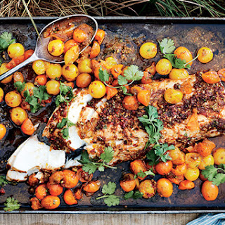 Slow-Roasted Black Cod with Red Chermoula Recipe