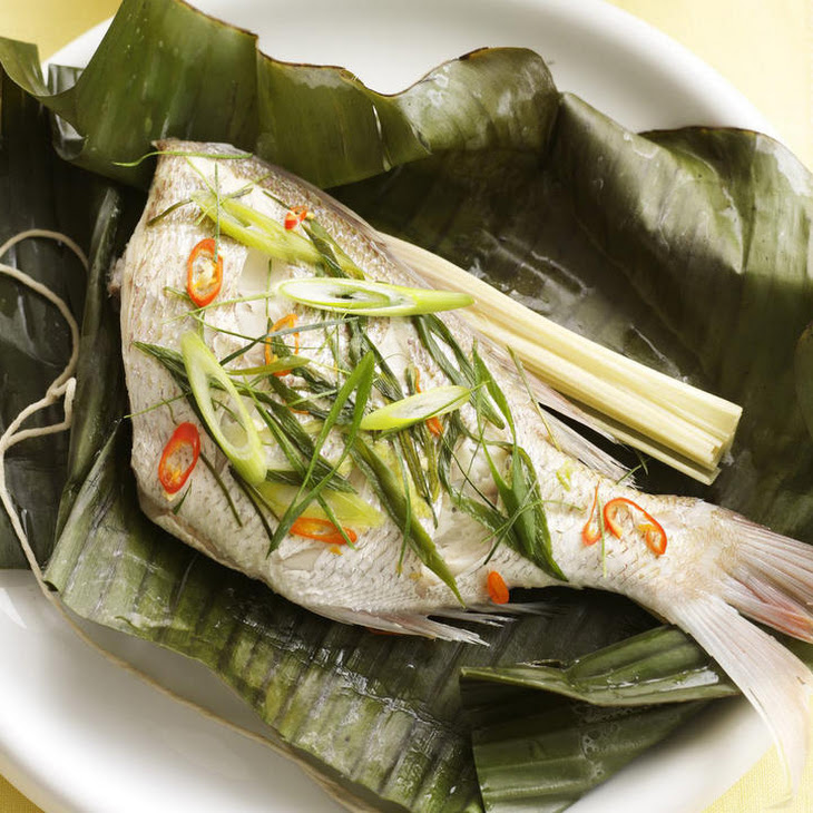 Chili Snapper in Banana Leaves