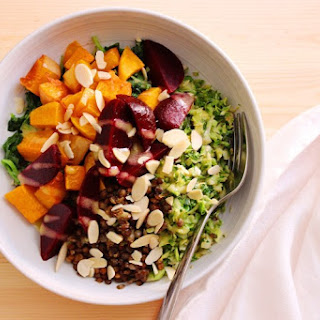 Trader Joe's Brussels and Beets Bowl.