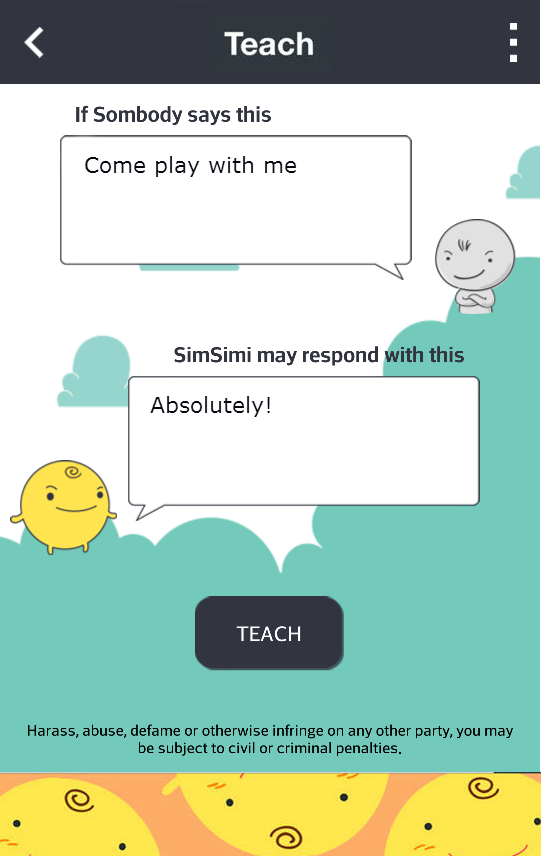 SimSimi- screenshot