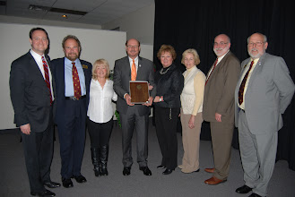 Photo: Gary Manier received the first President's Servant Leader Award