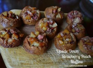 Upside Down Strawberry Peach Muffins Recipe