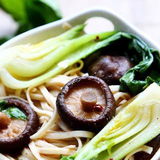 Bok Choy and Shiitake Mushroom Noodles.