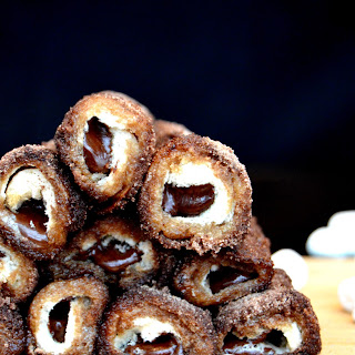 Chocolate & Marshmallow French Toast Roll Ups