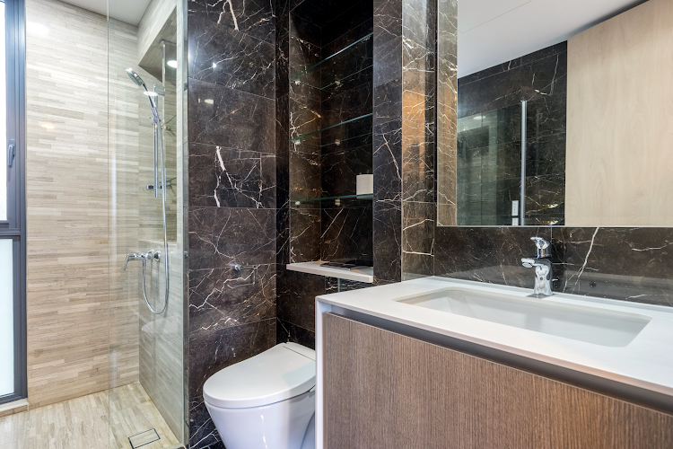 Luxury bathroom at Gateway Drive Residences