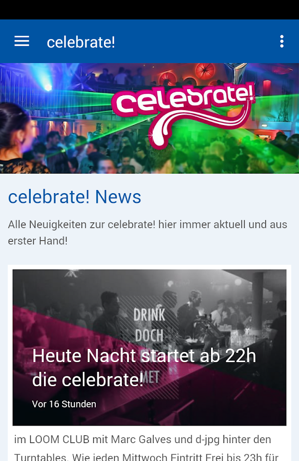celebrate!- screenshot