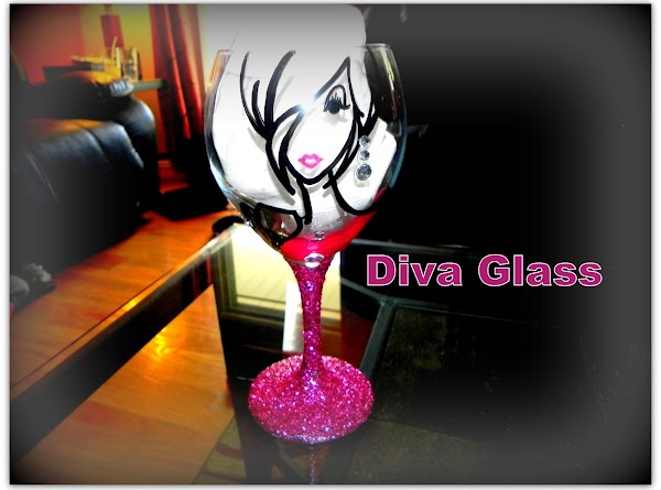 Every lady also got a decorated Diva Glass made by the owner of The...