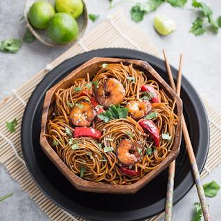 Shrimp Stir-Fry Lo Mein Noodles