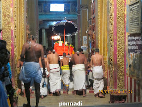 Photo: waiting for thAyAr and perumAL to enter the temple