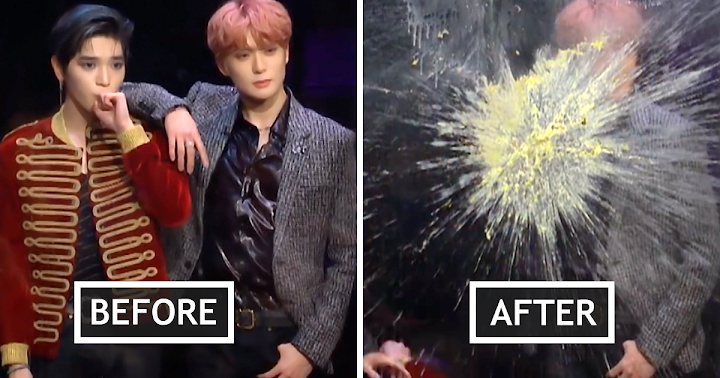 NCT 127's Taeyong Before And After The Flinch Game Is A