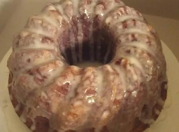 Blackberry Cobbler Cake W/ Lemon Glaze