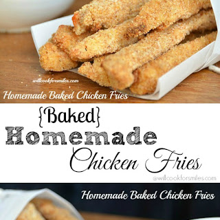 Homemade Parmesan Chicken Fries {Baked!}