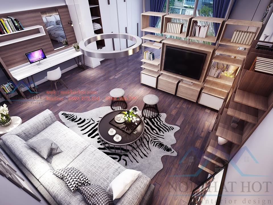 thiết kế phòng khách sáng tạo
