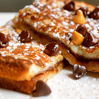Chocolate Peanut Butter Mascarpone French Toast