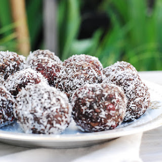 Raw Cacao Apricot Truffles.