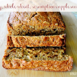Healthy Whole Wheat Applesauce Bread