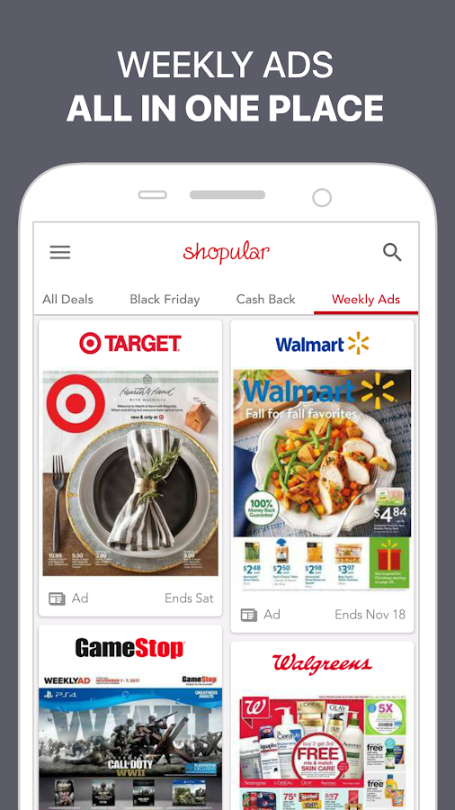 Shopular: Coupons, Weekly Ads & Shopping Deals- screenshot