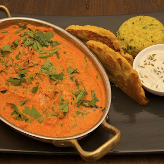 Butter Chicken with Coconut Naan