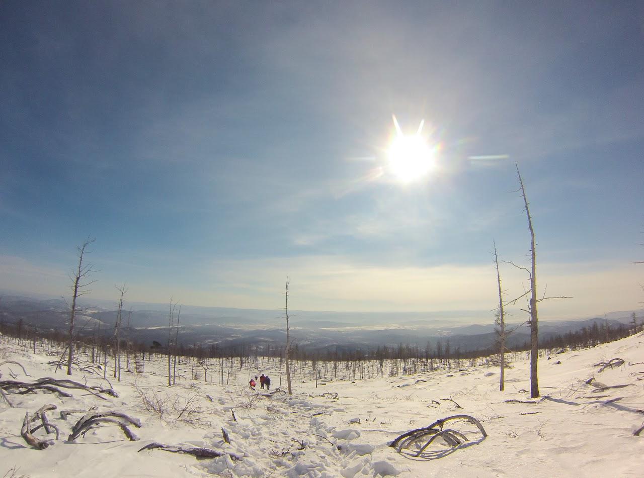 Вид с вершины Саранакан в сторону Читы на Забайкальский край