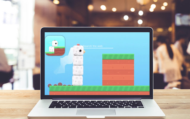 Square Bird New Tab Game Theme