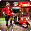 Pizza Delivery Girl 2020: Moto Pizza Simulator icon