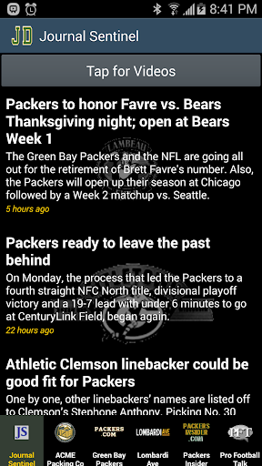 JD's Green Bay Packers News