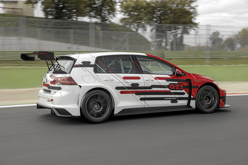The aerodynamics force the car down onto the black stuff. Picture: VOLKSWAGEN MOTORSPORT