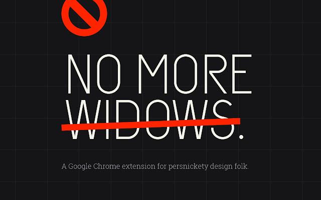 No More Widows