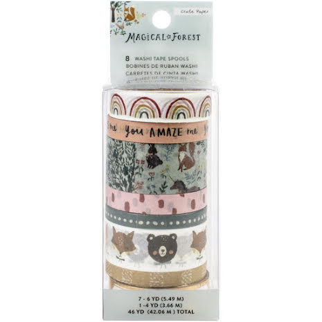 Crate Paper Washi Tape 8/Pkg - Magical Forest