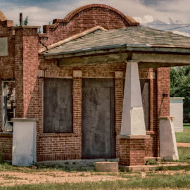 Gas Station  by Jeff Brown - Buildings & Architecture Decaying & Abandoned ( oil fill station, era, gas station )