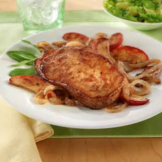 Pork Chops With Caramelized Onions & Apples