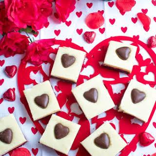 White Chocolate Fudge Red Velvet Brownies.