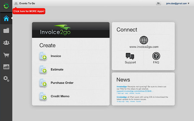 Invoicego Chrome Web Store - Invoice2go software