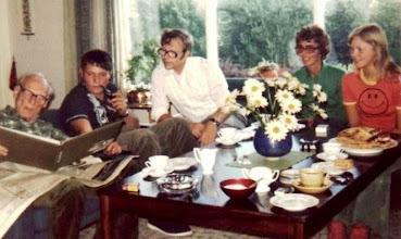 Photo: Jon Jonsen, with family at home.