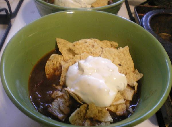 Black Bean Tortilla Soup With Cilantro Lime Cream Recipe