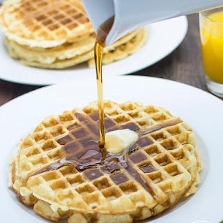 Golden Butter Waffles.