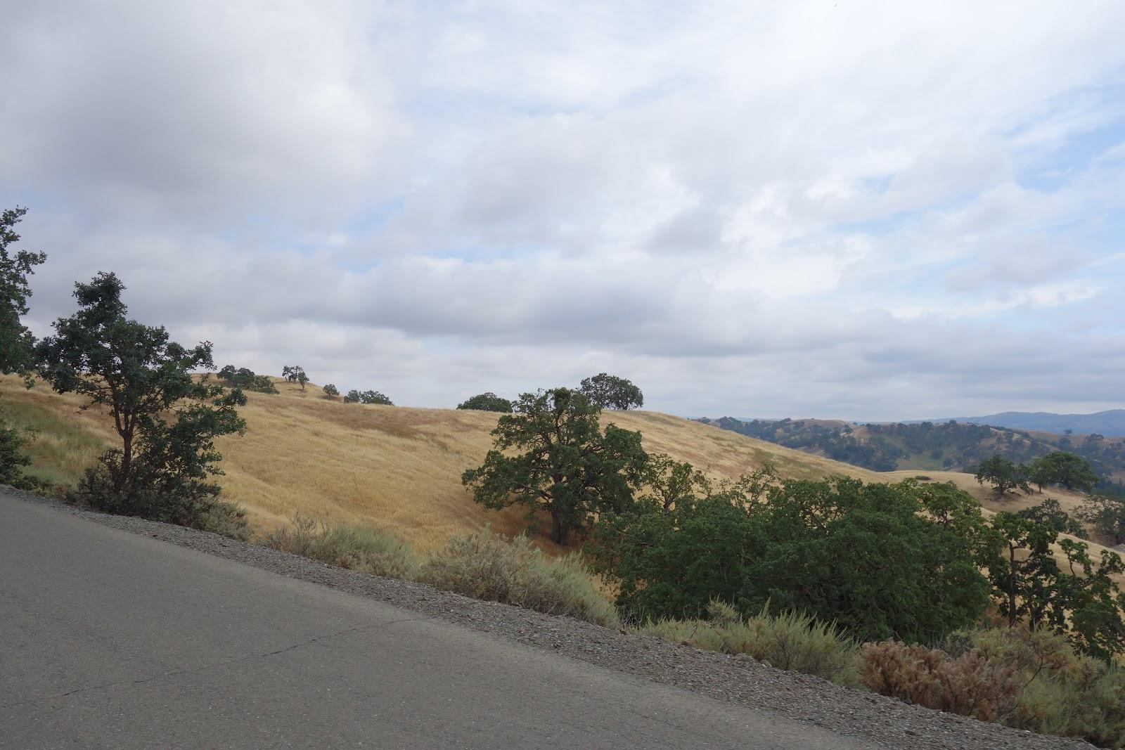Climbing by bike Mt. Diablo - South Gate - views along climb