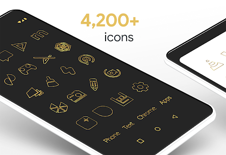 Lines Gold – Icon Pack (Pro Version) 3.2.3 APK + MOD Download 2