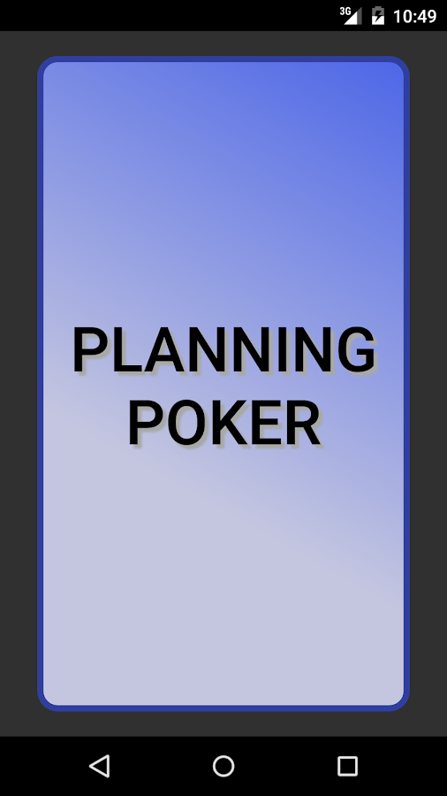Planning Poker: screenshot