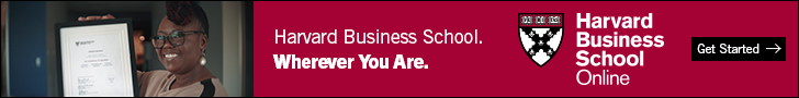 Second example banner ad from Harvard Business School Online