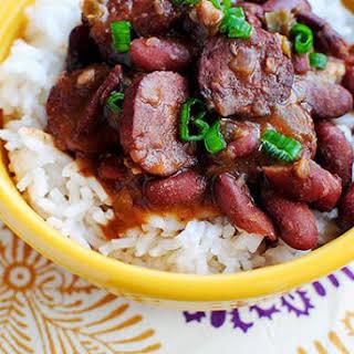 Lighter Red Beans & Rice (Crock Pot Recipe).