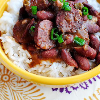 Lighter Red Beans & Rice (Crock Pot Recipe).