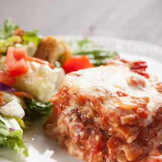 Lasagna With Cream Cheese And Ricotta Cheese Recipes.