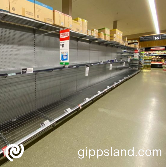 The Andrews Labor Government's failure to get coronavirus outbreaks under control is threatening the supply of food to supermarket shelves high demand through the COVID-19 crisis has seen supermarket shelves stripped bare