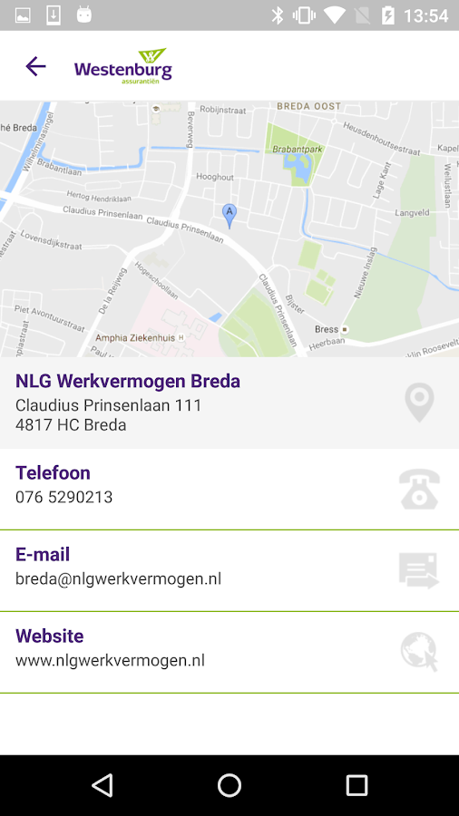 Westenburg Assurantiën BV- screenshot