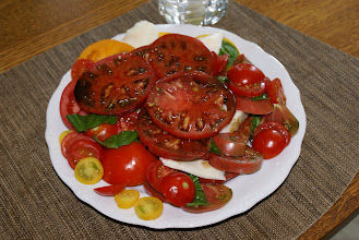 Photo: 8-4 Caprese salad with 5 types of heirloom tomateos