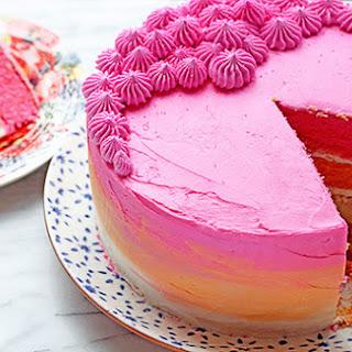 Vanilla Ombre Cake.
