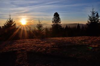 Photo: Słońce zachodzi tego dnia za Baranią Górą. Dobrze widać też Skrzyczne.