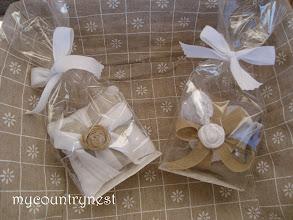 Photo: cuscinetti doppi alla lavanda confezionati