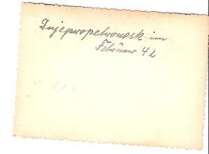 Photo: Feb. 1942.  Perhaps the name of a church or a town